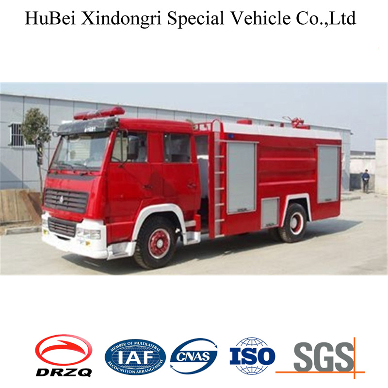 China 8ton Steyr Chassis Water Tank Fire Fighting Fire Truck