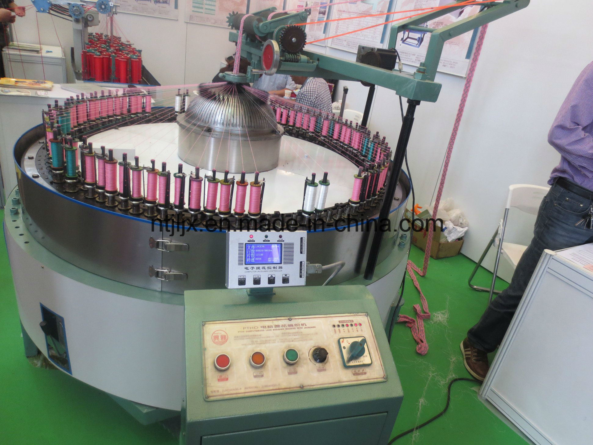 Pthd-96 Computerized Lace Braiding Machine