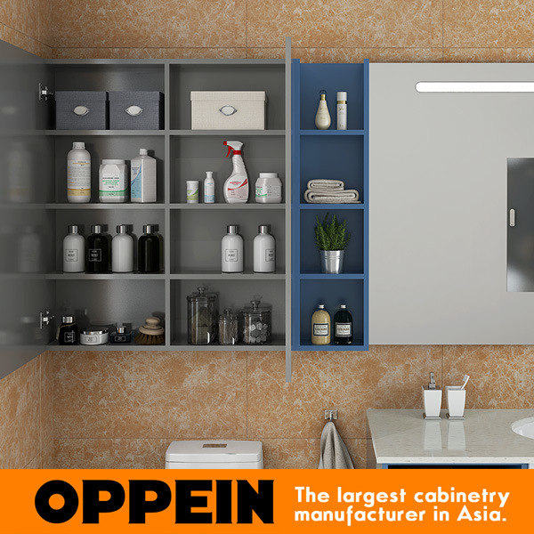 Oppein Modern Bathroom Furniture Set Wall Mounted Medicine Cabinets Bc17 A01