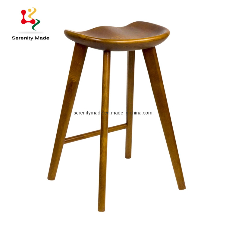 China Commercial Furniture Solid Timber Kitchen Bar Counter Stools - China Bar Stool, Wooden Bar Stool