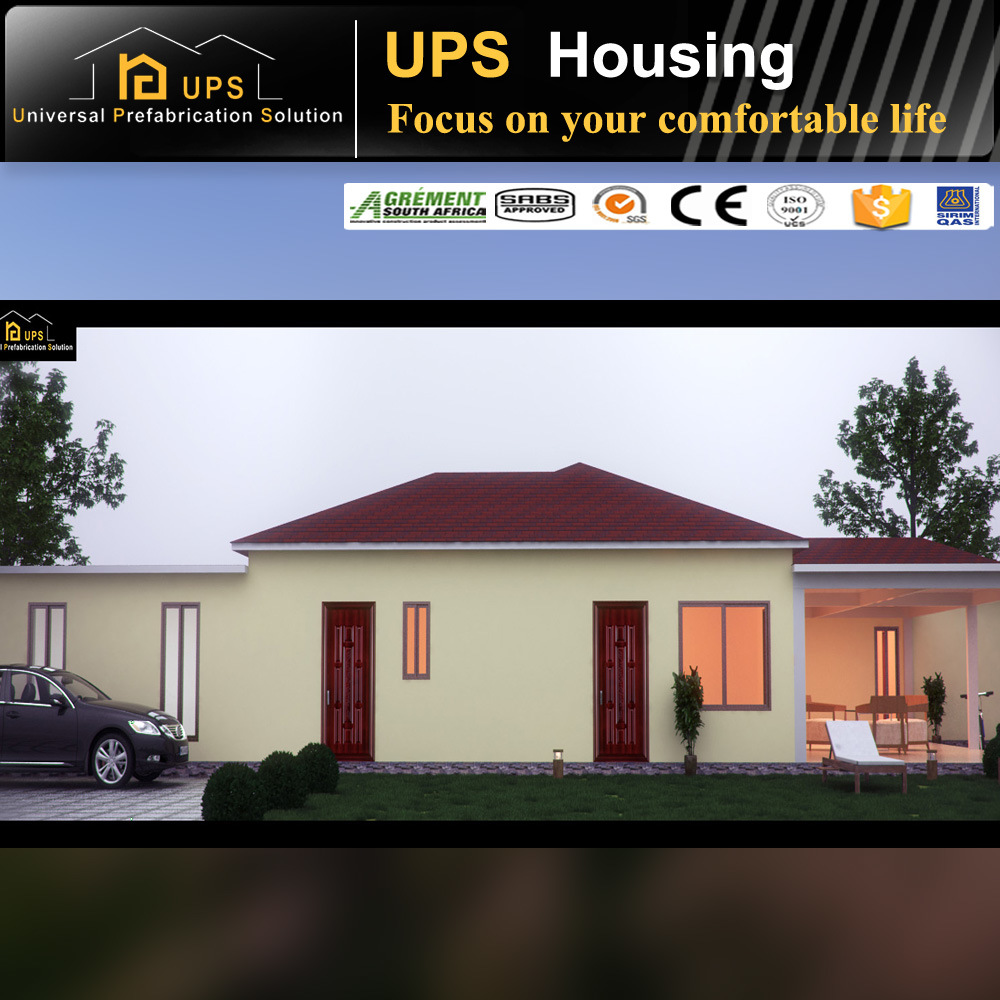 SGS Certificated Long Life Span Single Storey Prefabricated House