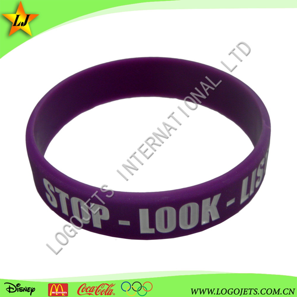 Hot Sale China Factory Manufacturer Promotional Rubber Wristband Silicone Rubber Band pictures & photos