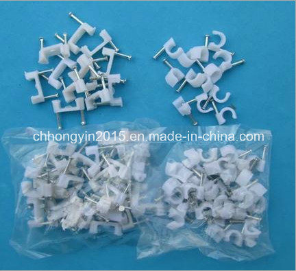R-10mm Circle Nail Cable Clip Round Type Nylon Cable Clip