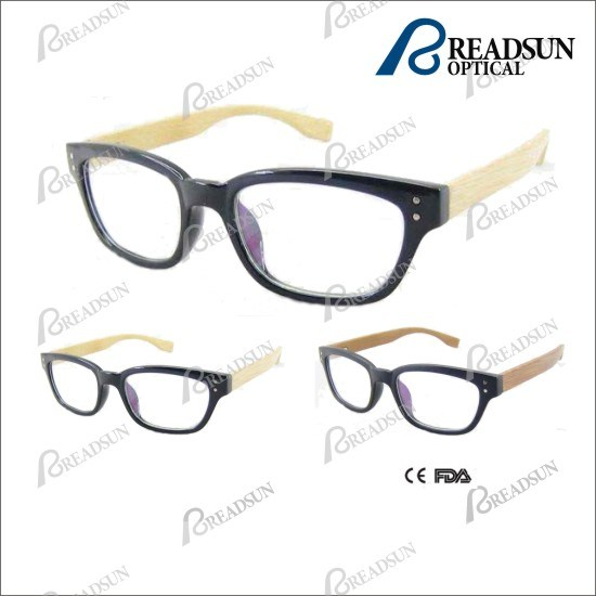 China Plastic Injection Wooden Reading Glasses in Fashion