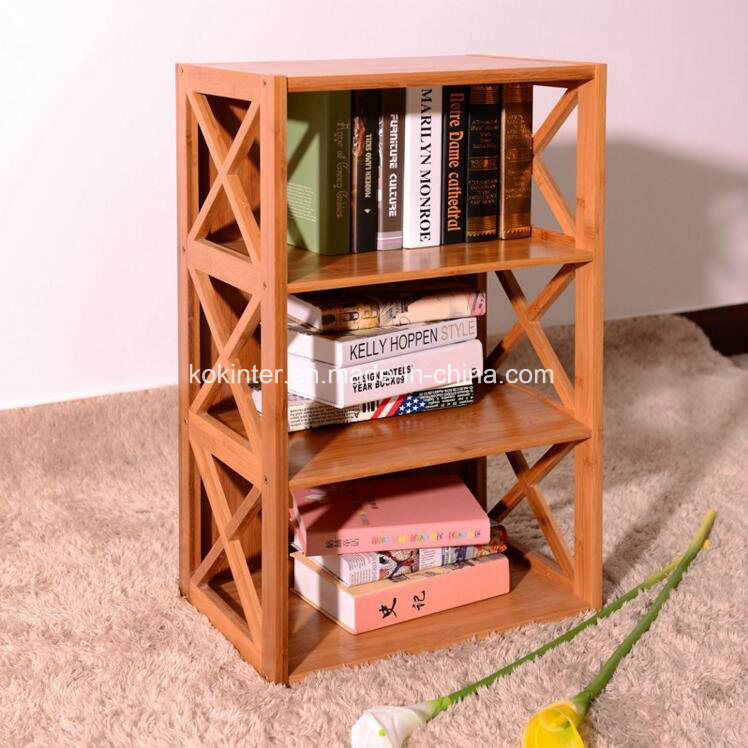 Bamboo Plywood Ark Bookshelf Storage Cabinet