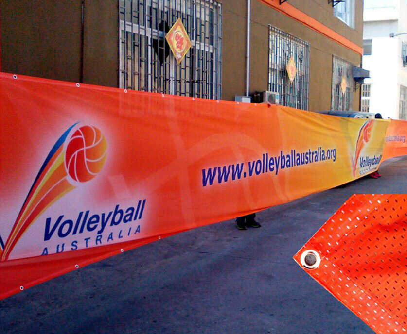 Custom Advertising PVC Vinyl Banner Digital Printing Outdoor Advertising/Promotion/Event/Tradeshow/Exhibition/Fair Display Mesh Fence Banner