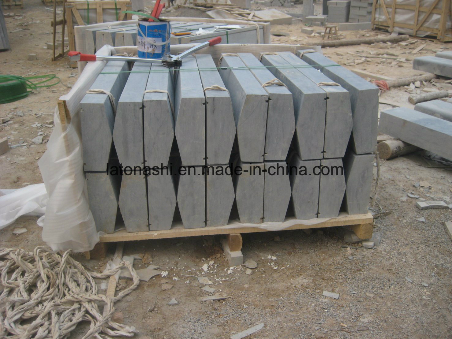 China Light Grey Granite Exterior Window Sill For Outdoor Photos