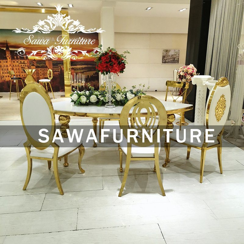 China Furniture Marble Dining Table Set Granite Dining Table Used Tables And Chairs For Sale China Stainless Steel Chair Wedding Chair