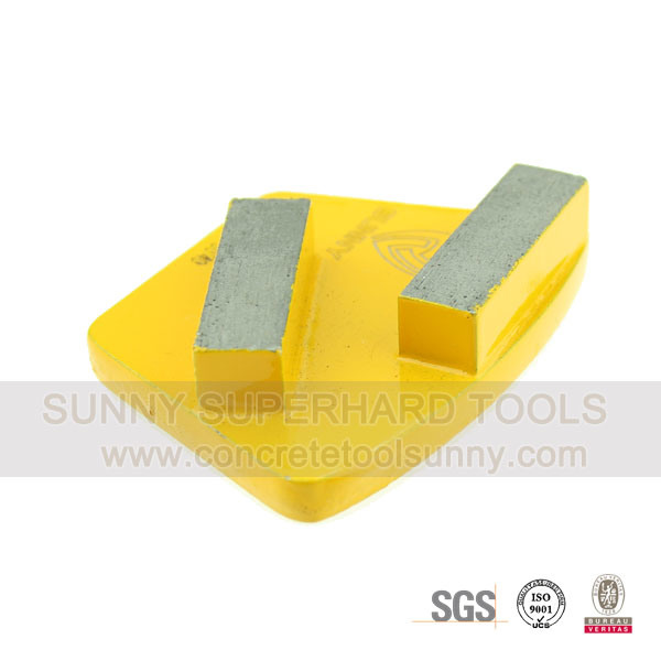 Trapezoid Diamond Grinding Pads Shoe- 2 Bar Segmented