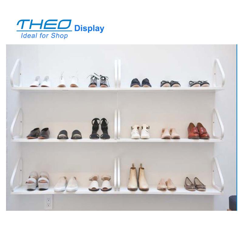 Wall Mount mDesign Metal Shoe Display /& Storage Rack 3 Tier