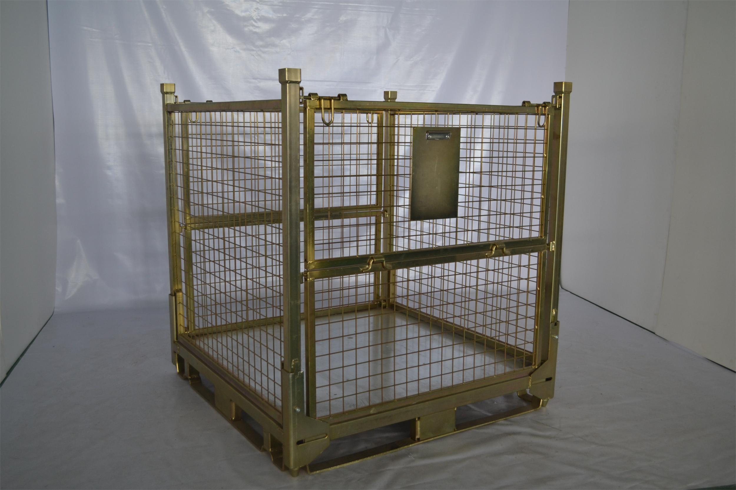 China Industrial Cargo Galvanized Stillage Gitter Box China Metal Box Gitter Box
