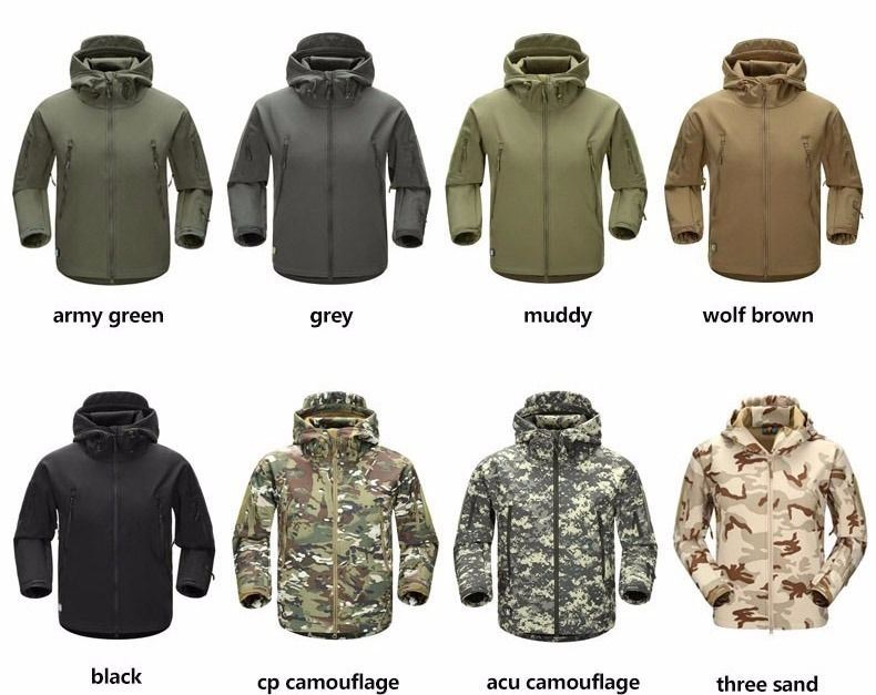 Men Camping Hiking Military Jackets for Tactical Military Clothing