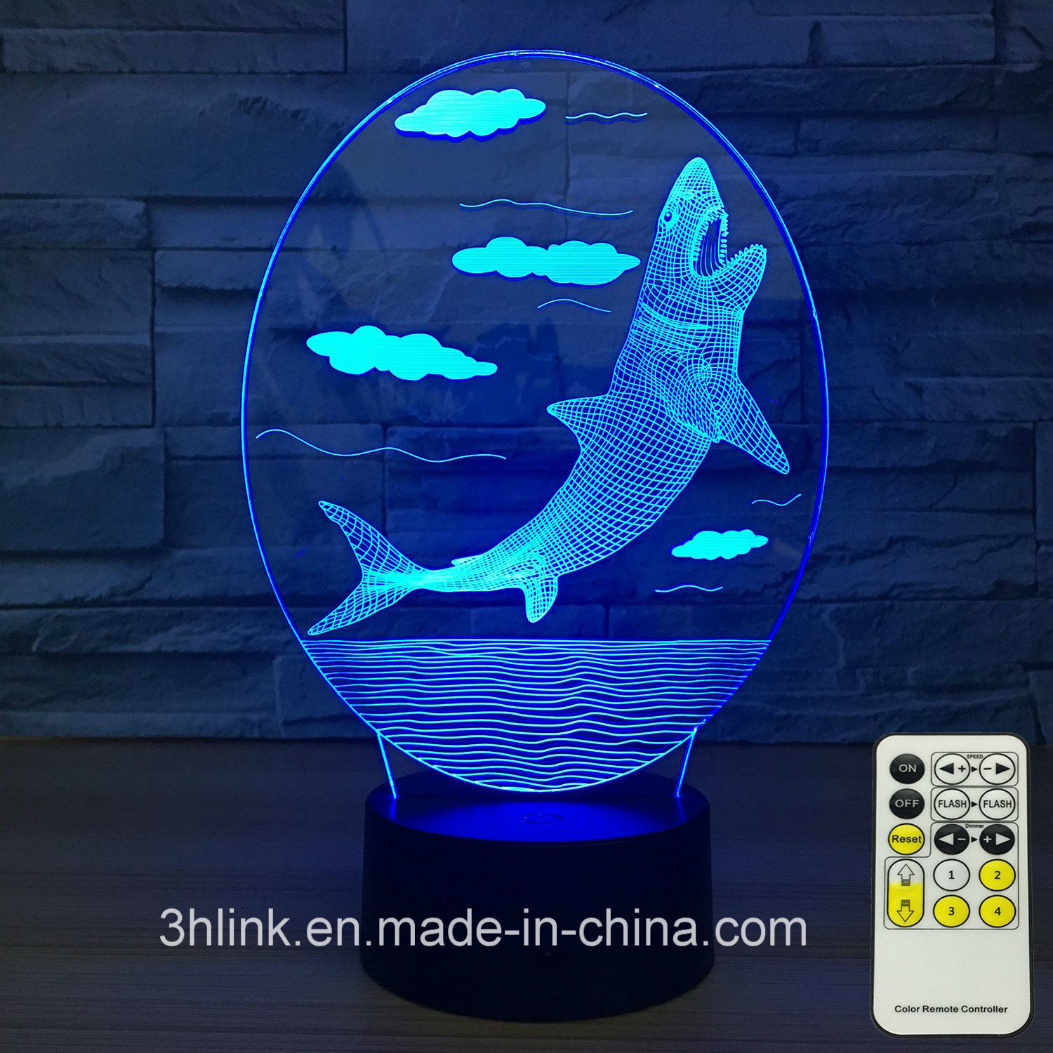 China 3D Shark Lamp Cool Best Birthday Gifts For Boy Boyfriend