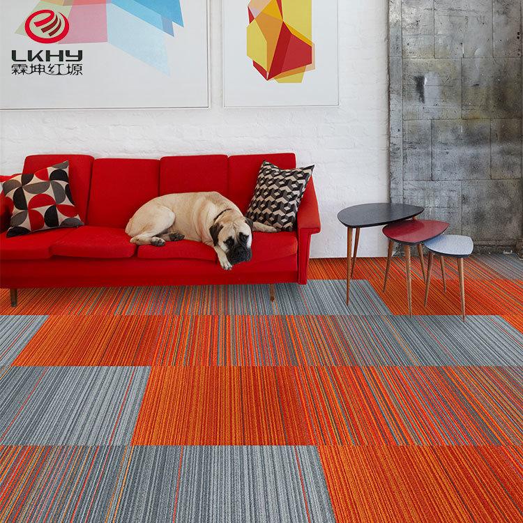 Carpet Tile Office, Using Carpet Tiles Living Room