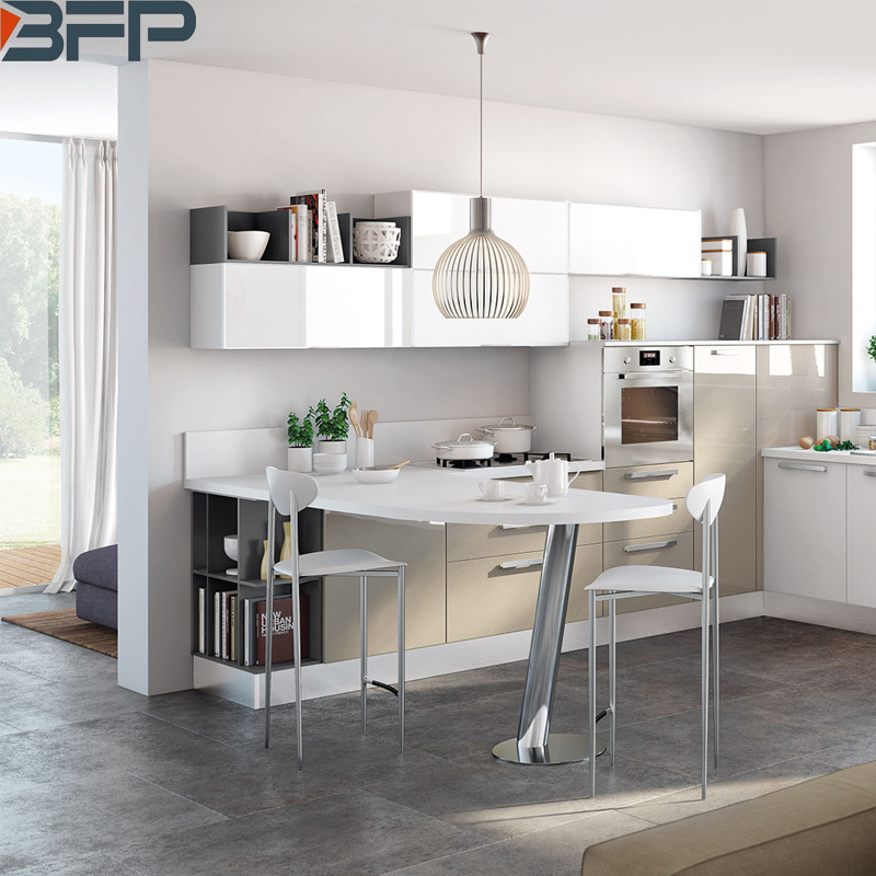 China Customized Modern High Gloss White Paint Mdf Board Lacquer Kitchen Cabinets Furnitures China Furniture Kitchen Cabinets