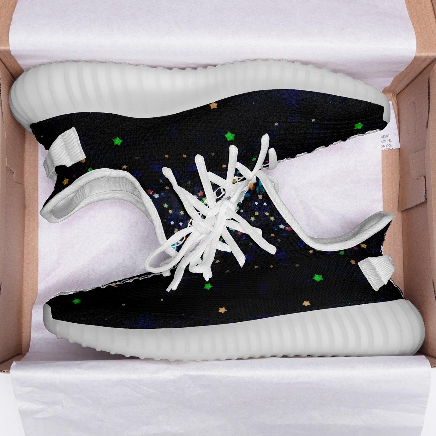 floral athletic shoes