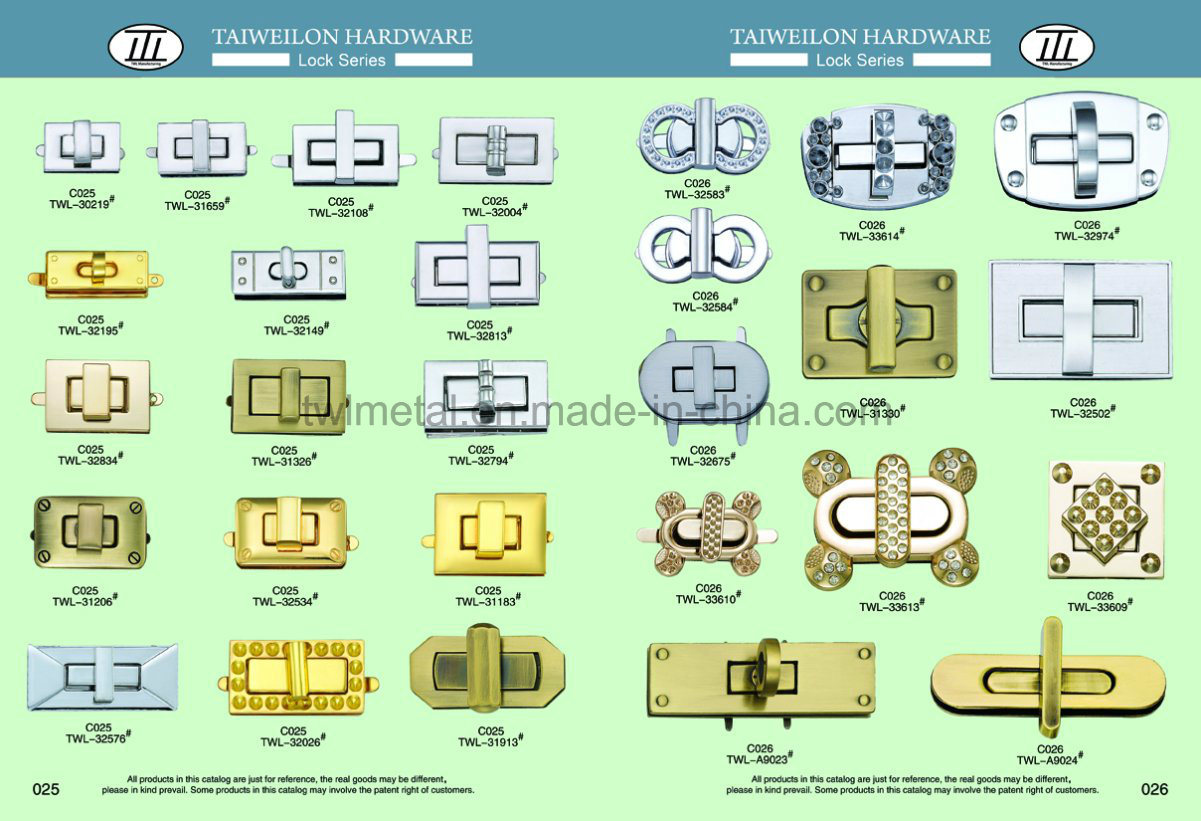 Gem Crystal Square Hardware Handbags Turn Lock Twist