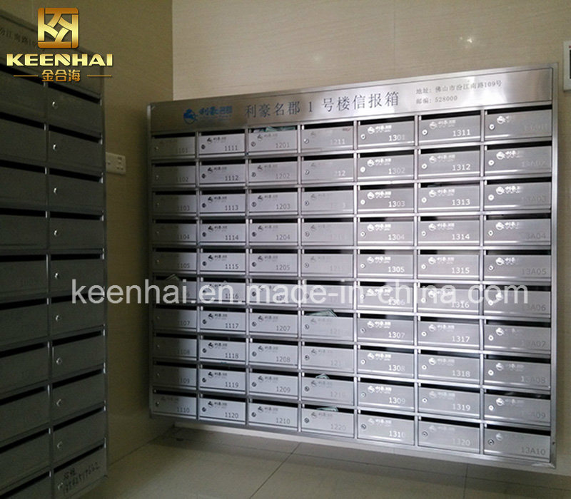 China Outdoor Free Stand Stainless Steel Mailbox For Residential Apartment
