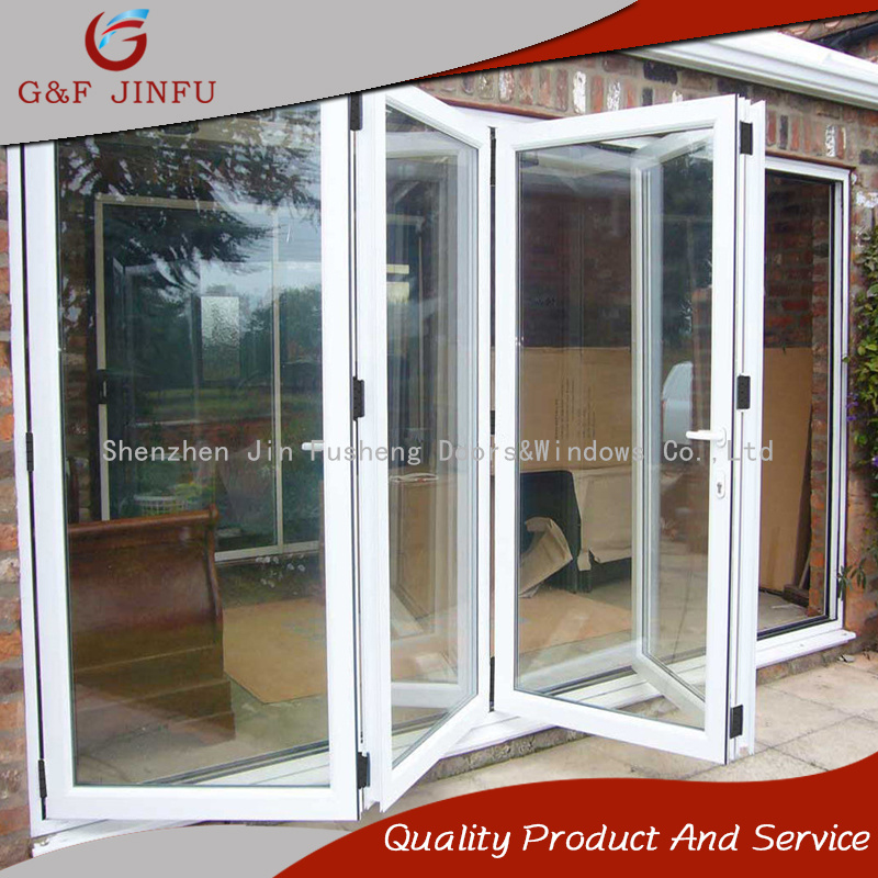 China Powder Coated Aluminium Frame Glass Folding Patio Door China