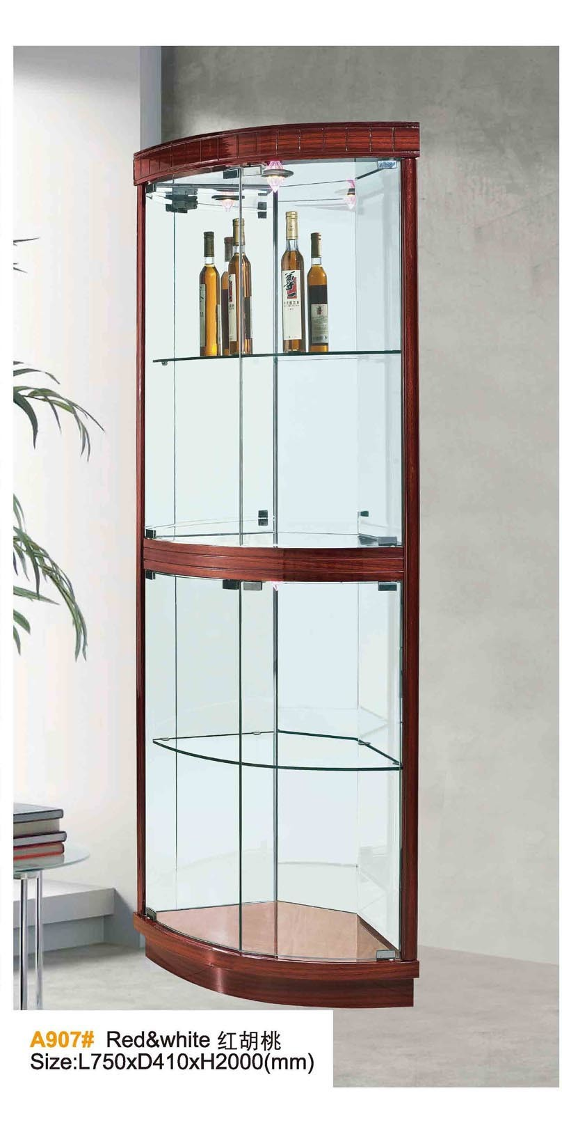 China Modern Living Room Wood Wine Glass Display Cabinet Photos ...
