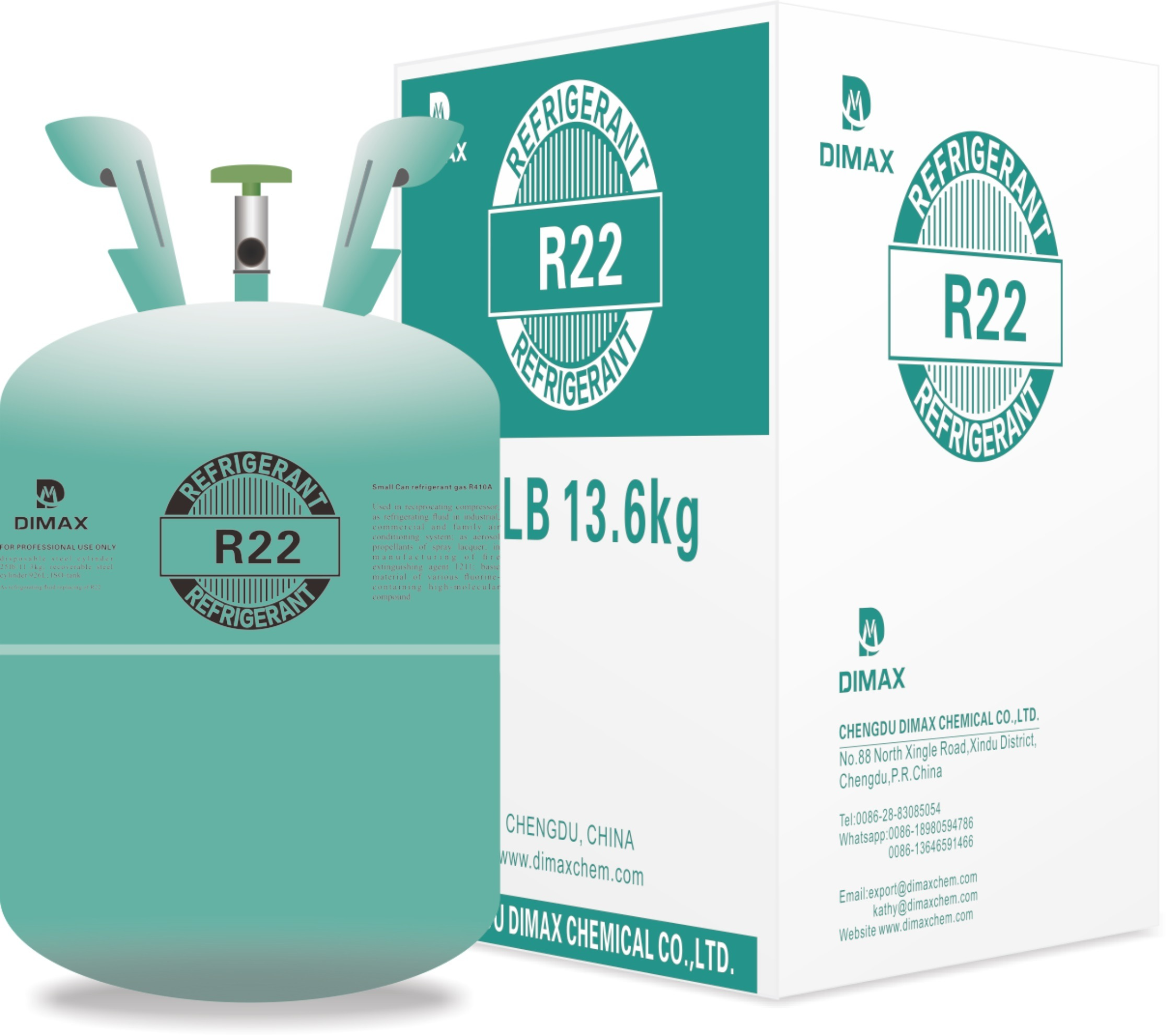 China Factory Direct Sale Freon R22 in Disposable 13.6kg Cylinder ...
