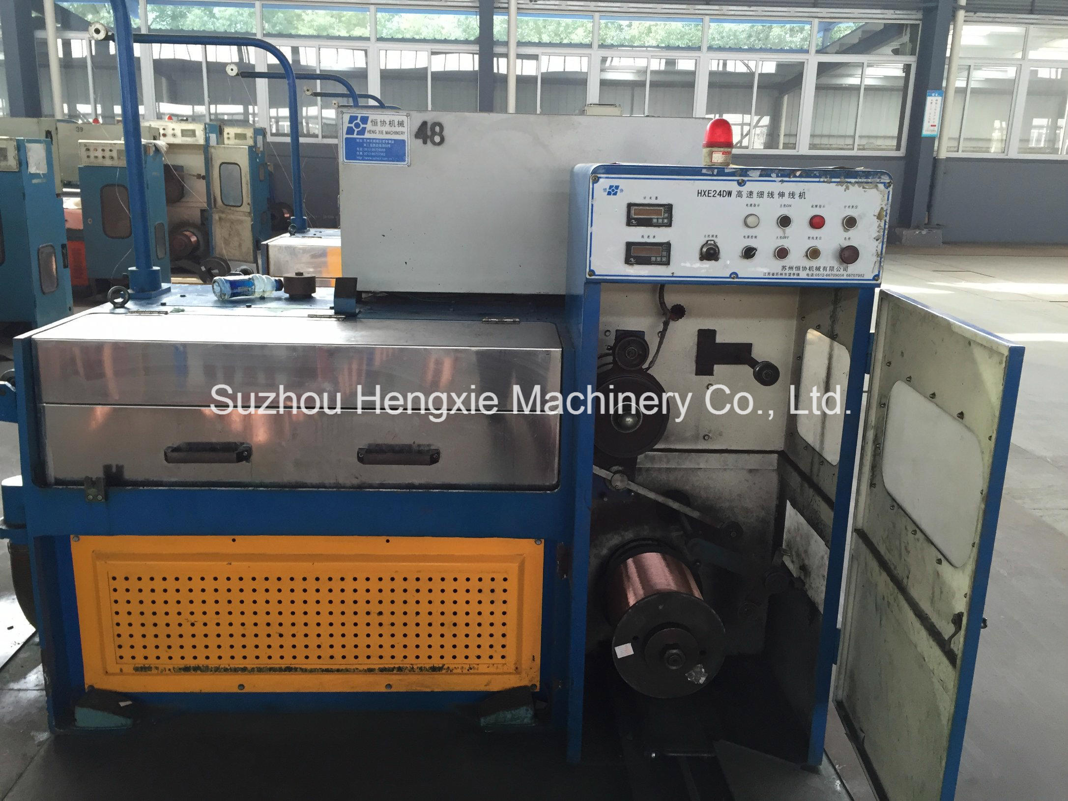 China Hxe-24dw High Speed Fine Copper Wire Drawing Machine ...