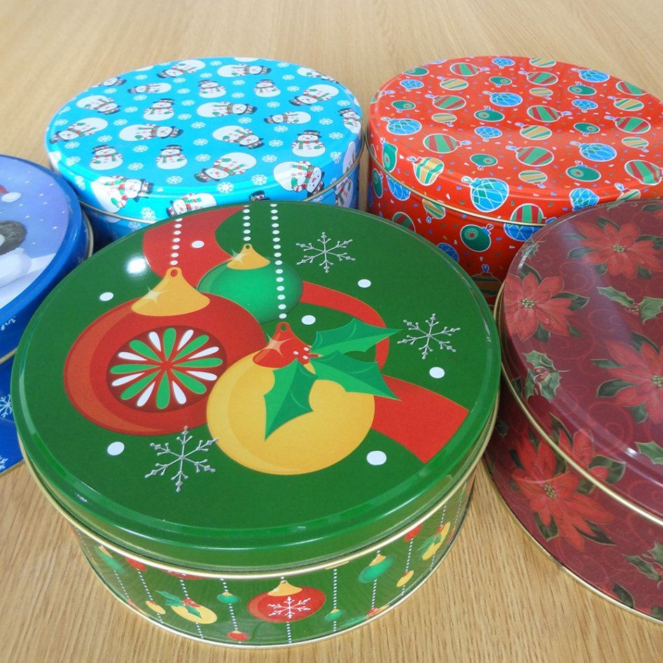 Christmas Tin Cookies.Hot Item Christmas Tin Box For Candy Biscuit Cookies