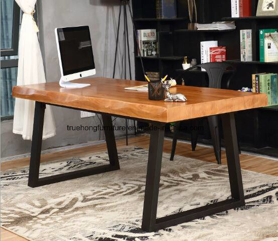 China Simple Por Design Nature Solid Timber Natural Wood Table Furniture Dining In Top