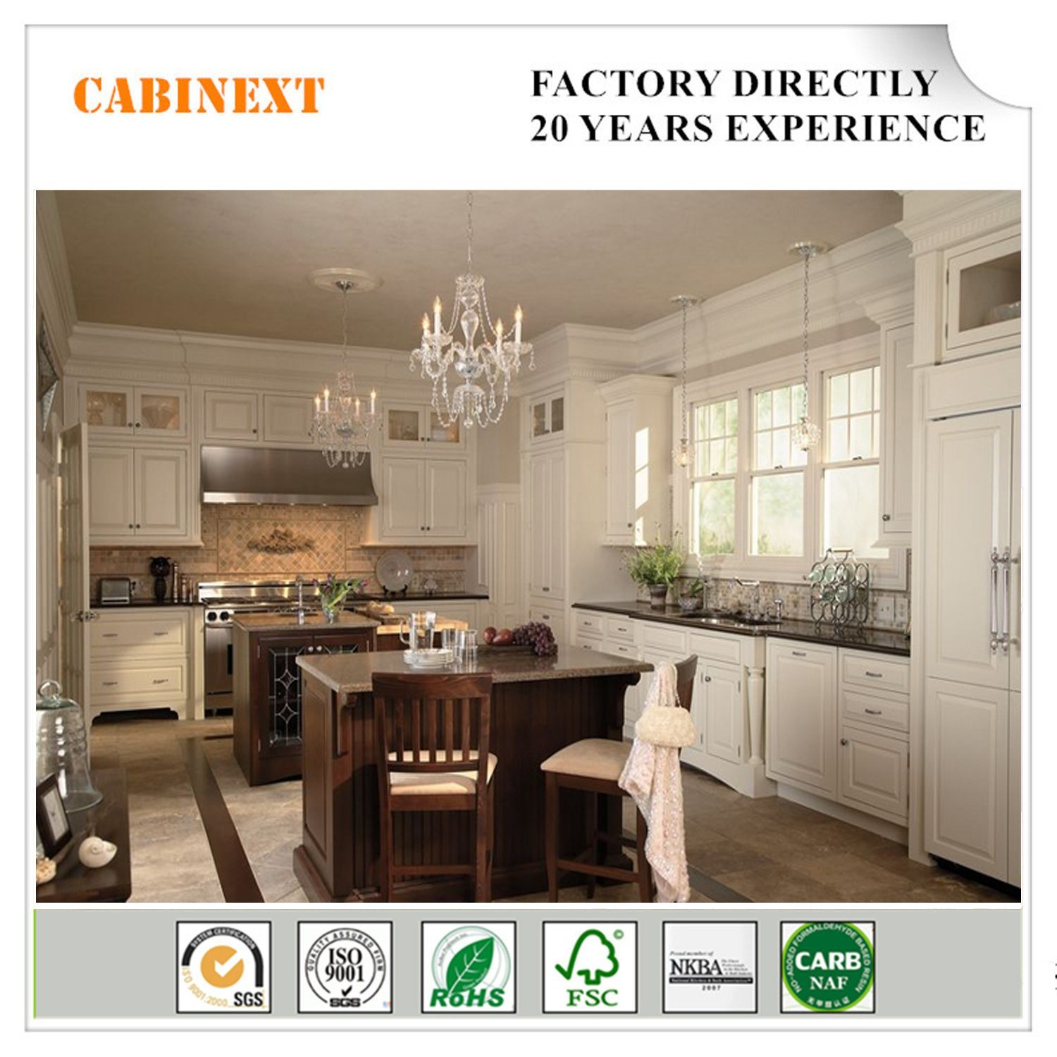 China North American Birch Solid Wood Cabinets Rta Wooden Kitchen
