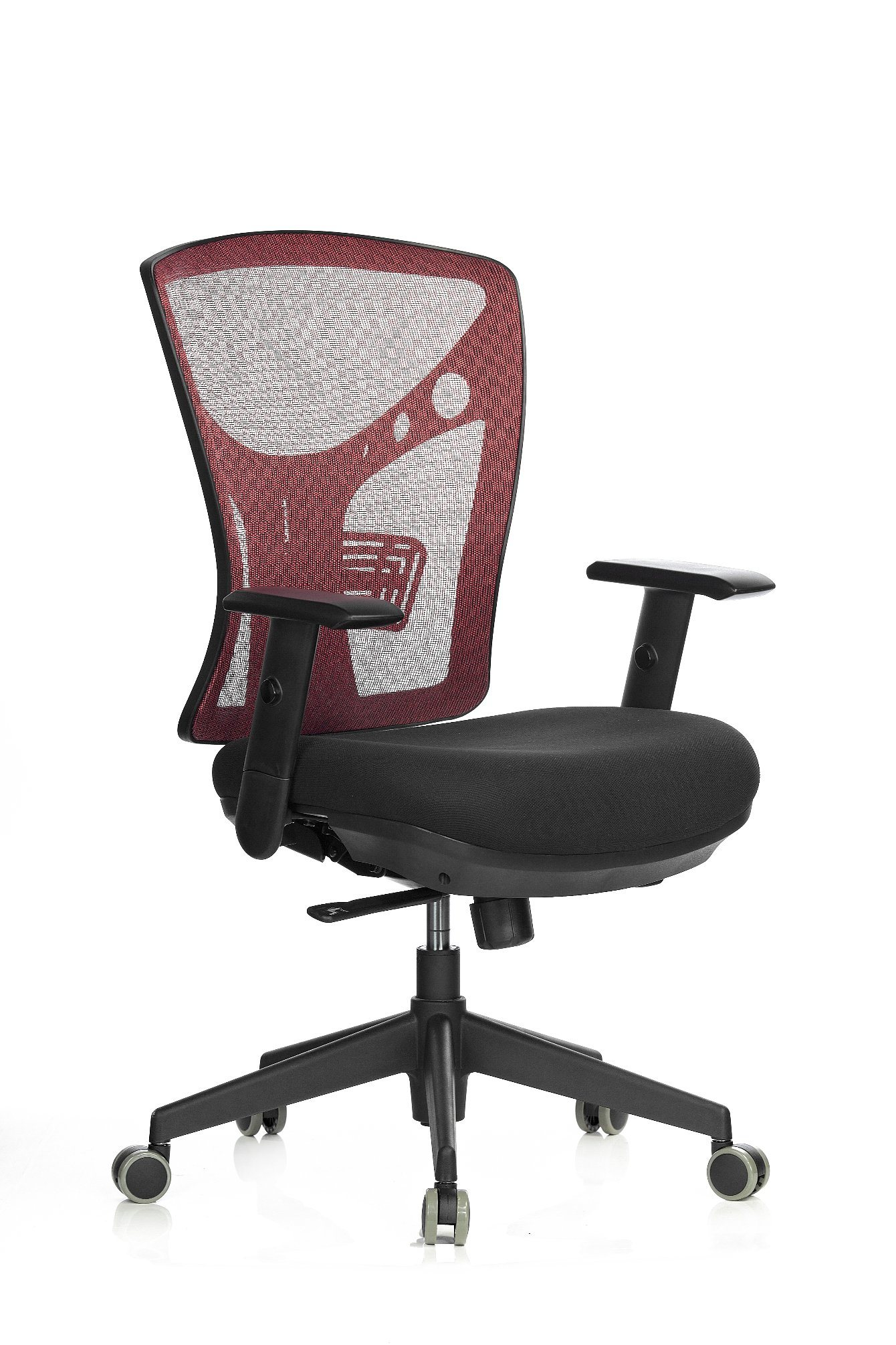 Hot Item Fabric Seat Mesh Back Middle Back Office Meeting Chair