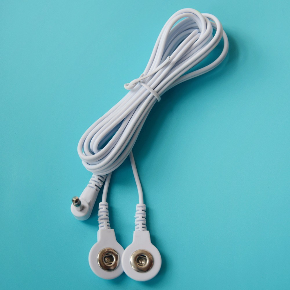 China Right Angle 3.5mm to 3.5mm Snap Electrode Lead Wire Photos ...