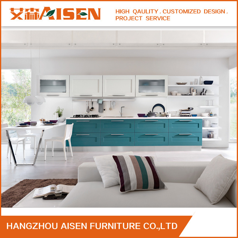 Solid Wood Kitchen Cabinets Made In Usa: China Modern Simple Color Solid Wood Kitchen Cabinet