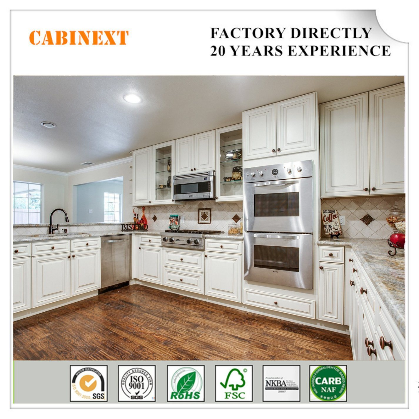 Hot Item White Shaker Rta Cabinets Birch And Plywood Kitchen Cabinet In Cheap Price