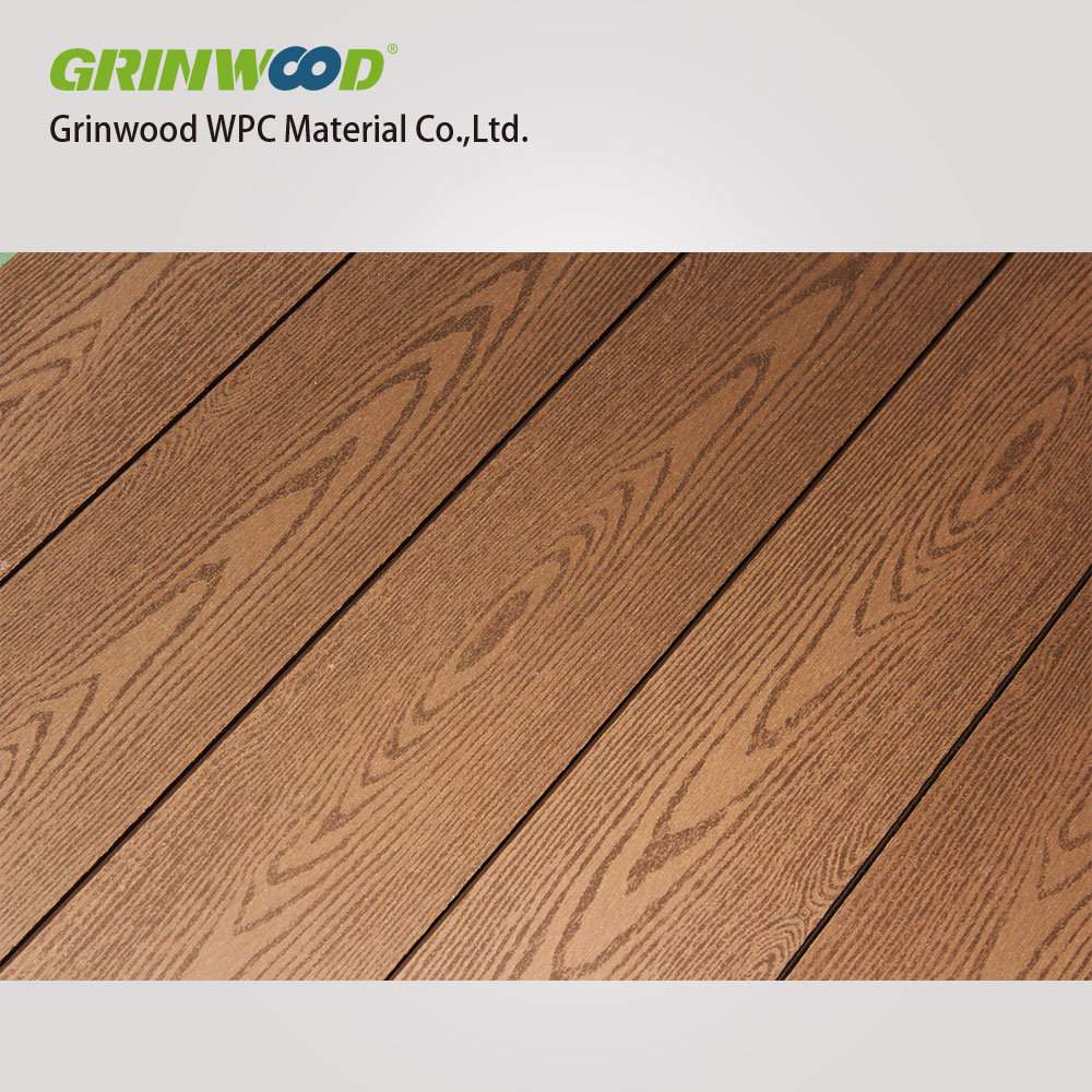 Wood Plastic Composite Decking Boards With Grain Wpc Solid