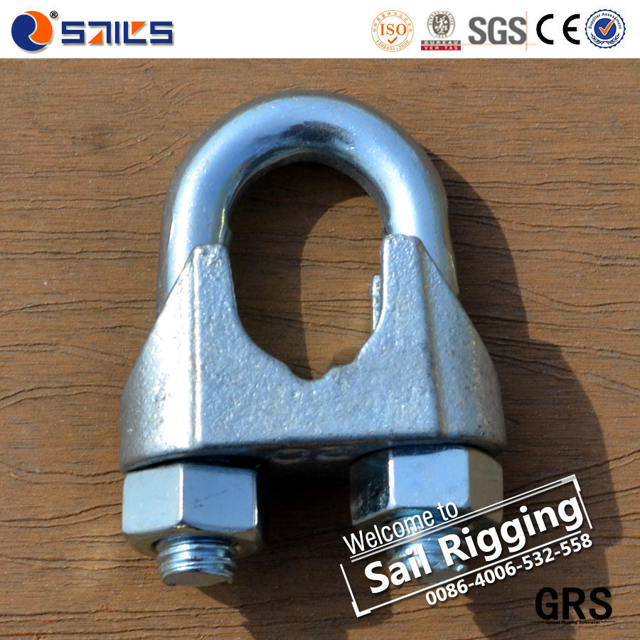 China Electric Galvanized DIN741 Steel Wire Rope Clamp - China Wire ...