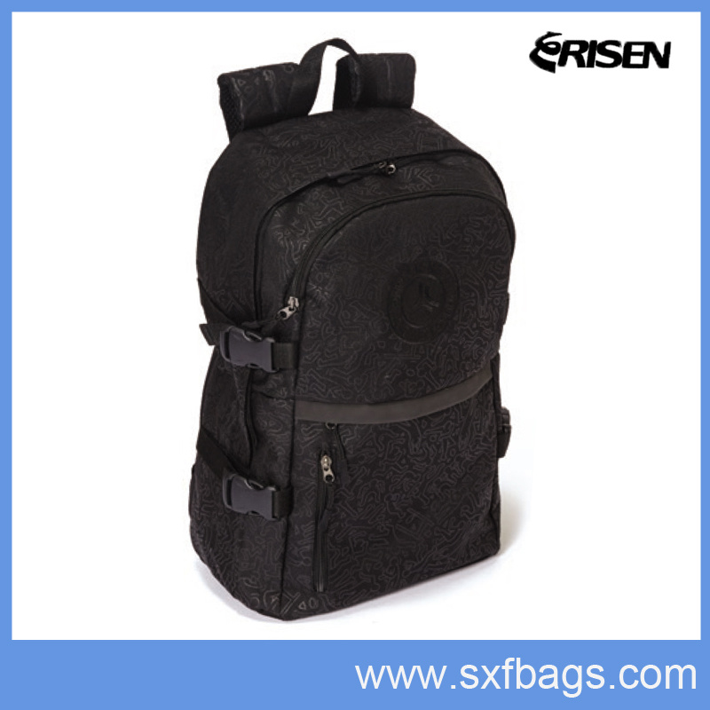 [Hot Item] Black Durable Student Backpack Back to School Bag