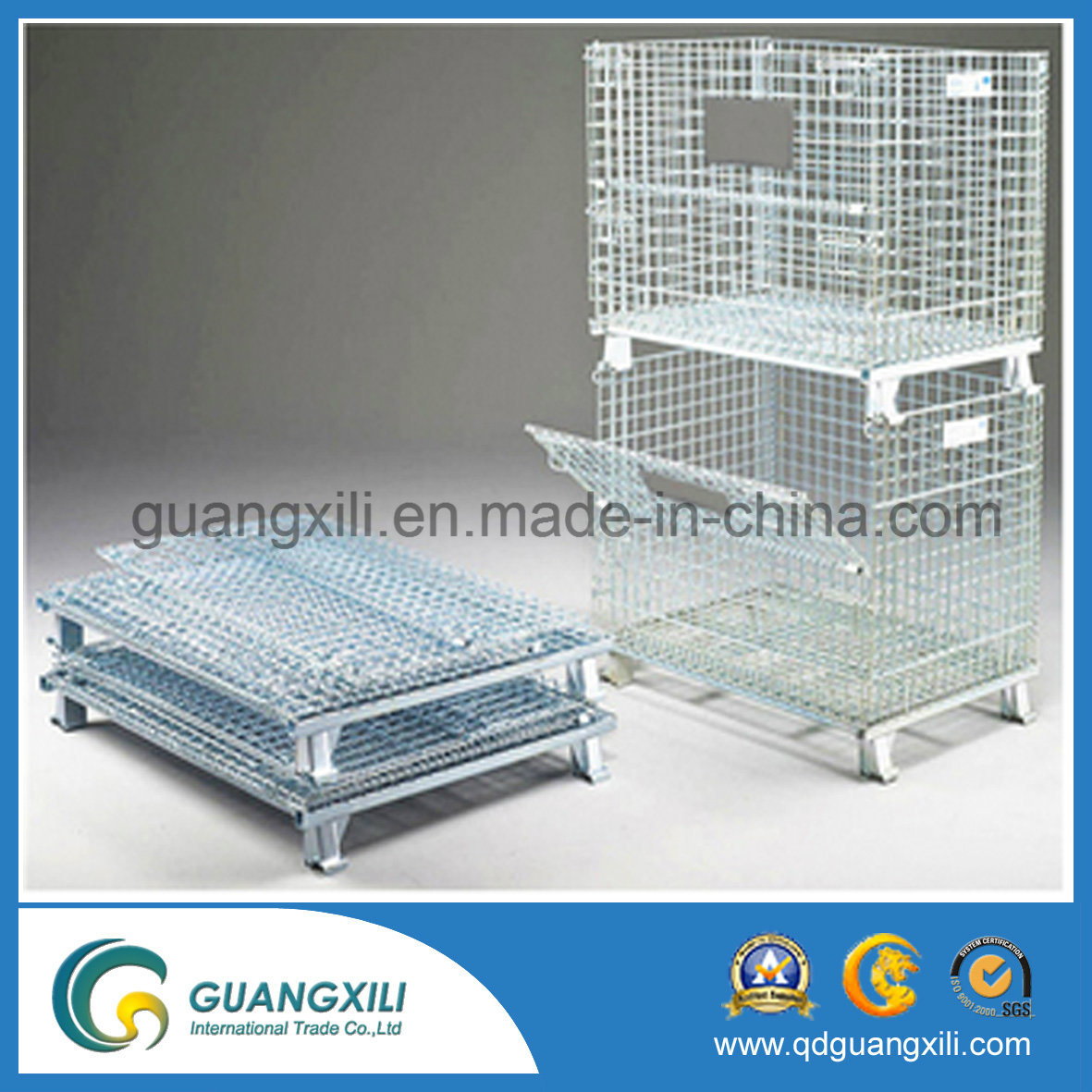 Truck Transportation Wire Mesh Container Pallet Cage pictures & photos