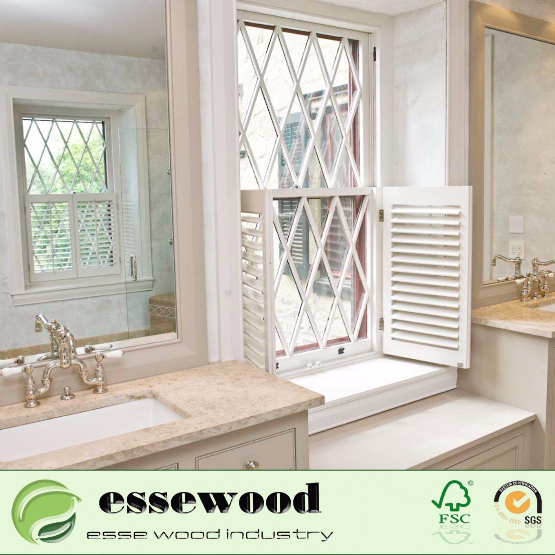 Hot Item Interior Decorative House Good Quality Pvc Plantation Shutter Window
