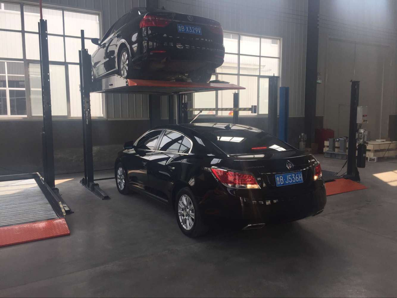 China Two Post Residential Pit Garage Parking Car Lift
