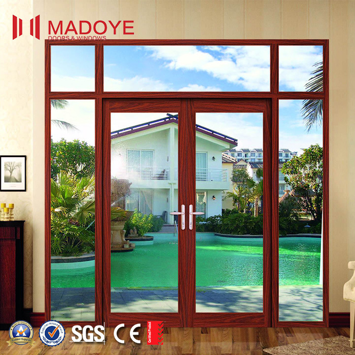 Hot Item Online Main Entrance Doors Design Aluminum Double Gl Door