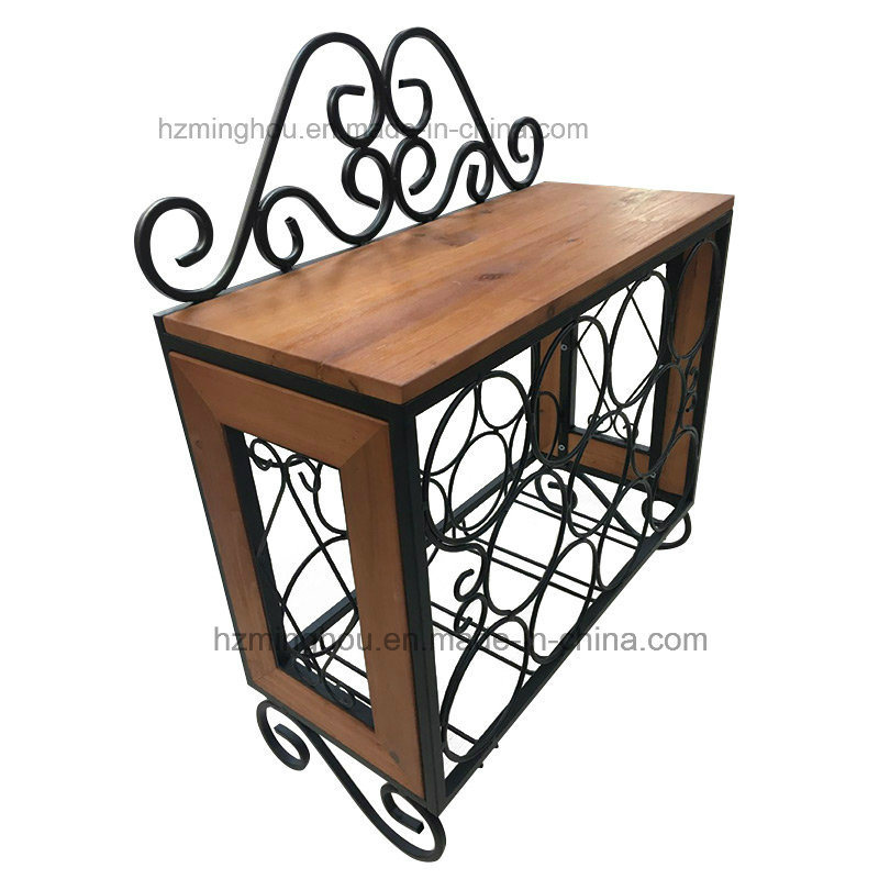 China Decorative Wall Mounted Wine Rack With 4 Gl