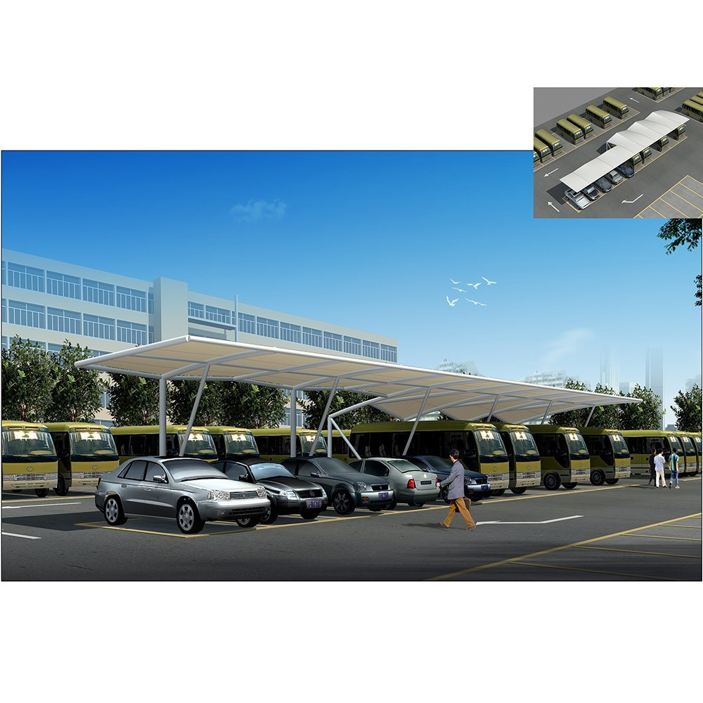 China New Design Shade Parking Membrane Structure For Car Parking