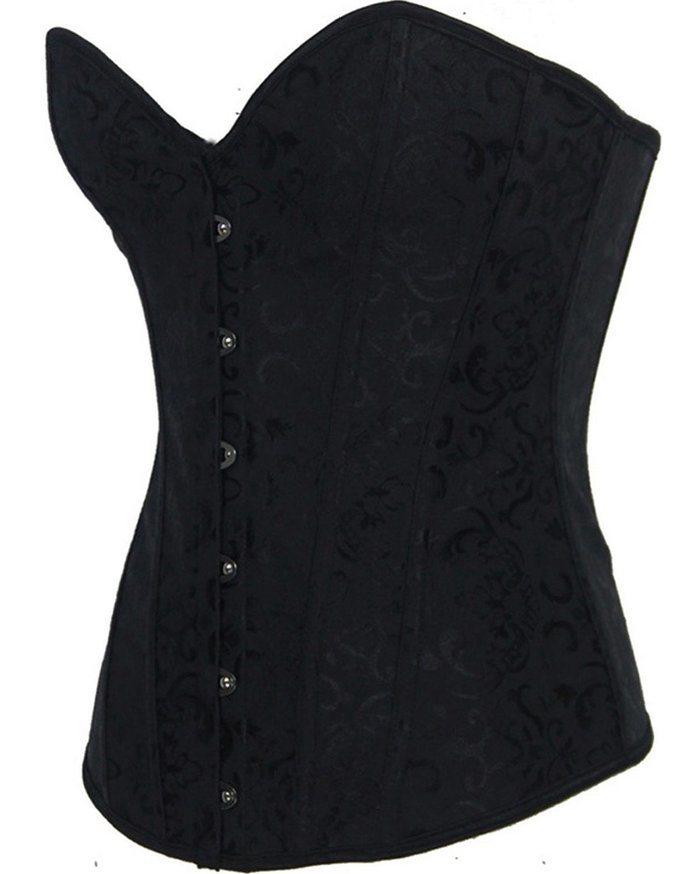 455a03d1b1 Women′s Bustier Corset Sexy Satin Brocade Overbust Waist Cincher Shapewear  Top