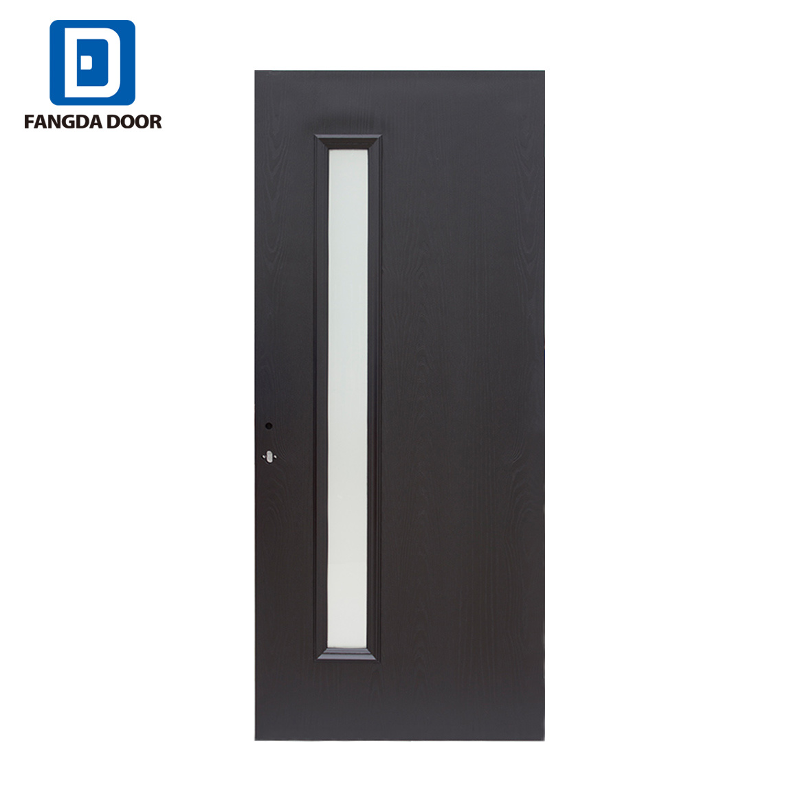 American Oak Wood Grain Fiberglass Contemporary Style Entry Door With Left Vertical Glass Panel China Fiberglass Door American Style Entry Door Made In China Com