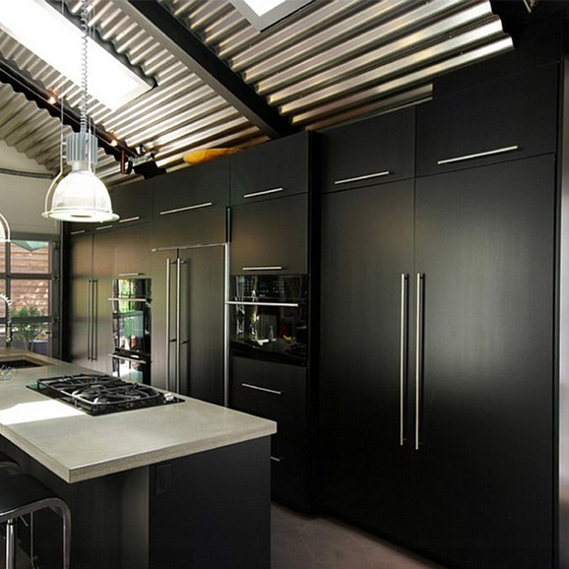 China Hot Sell Modern Design Foshan High Gloss Black Kitchen Cabinet China Kitchen Refacing Kitchen Cabinet Accessories