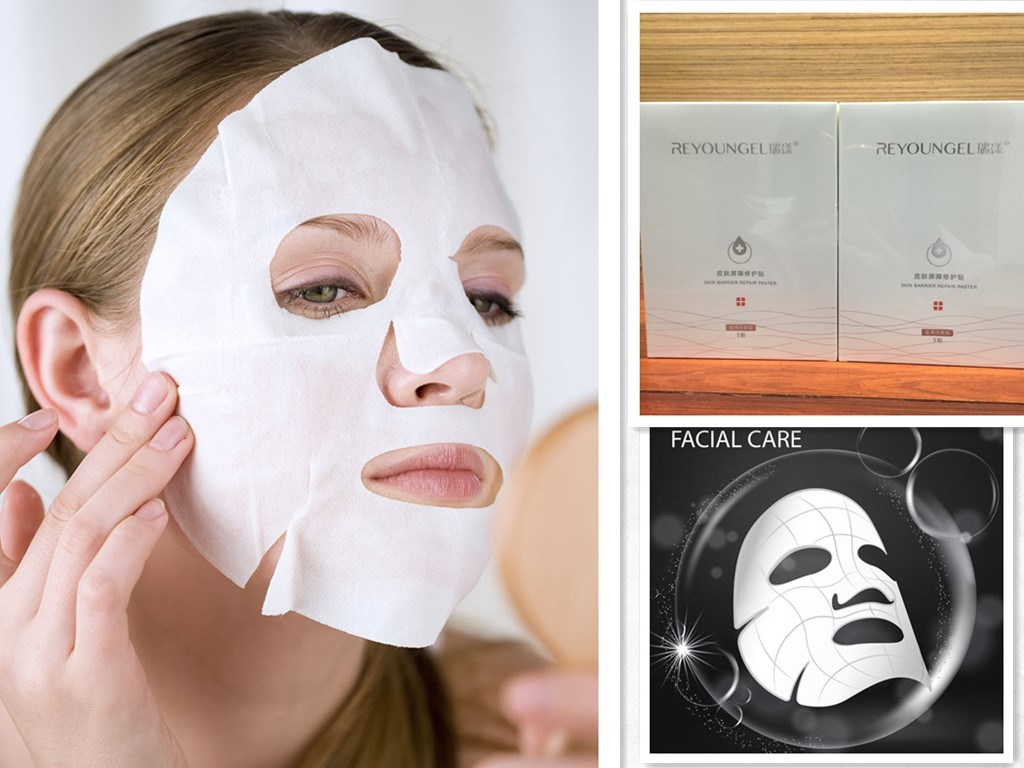 China Cosmetic Face Mask To Reduce Acne Non Woven Cotton Fabric Skin Care Mask China Skin Care Mask Facial Mask