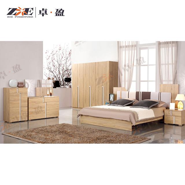 China Light Walnut Color Wooden Mdf Modern Design Bedroom Set China Modern Bedroom Set Wooden Bedroom Furniture