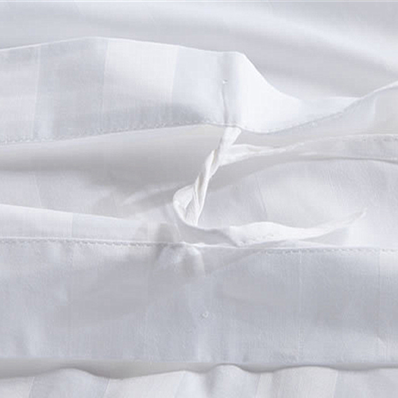 Bedding Set (BE-001) 100% Cotton White Clean Hotel Bedding Manufacturer