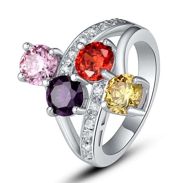 China Engagement Rings 925 Sterling Silver Jewelry With Color Stone China 925 Silver And Silver Ring Price