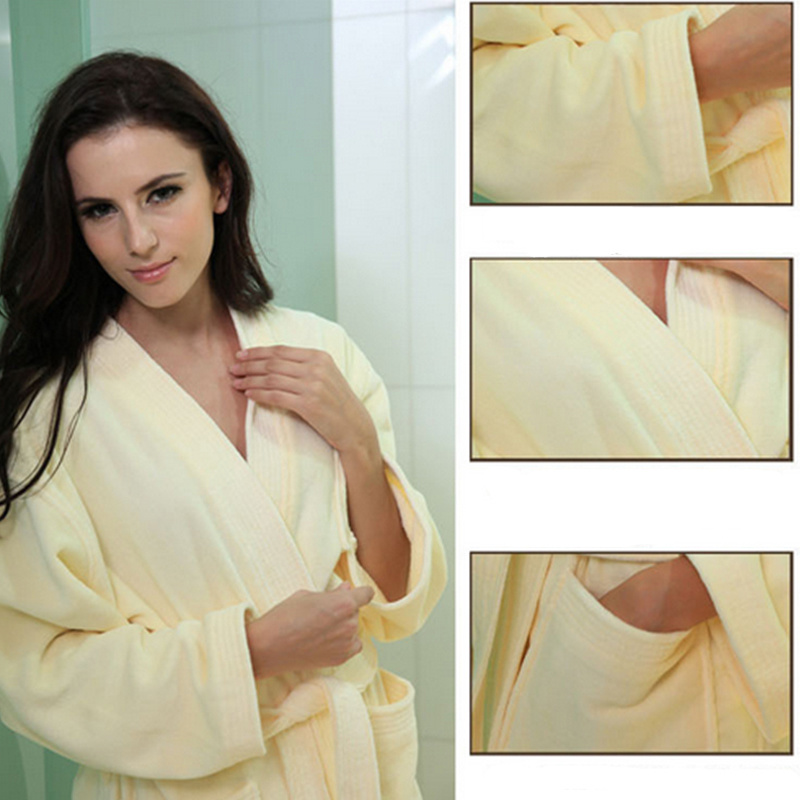Bath Robe (BA-003) Cotton Hotel Guest Room Bath Robe Manufacturer Cut Pile